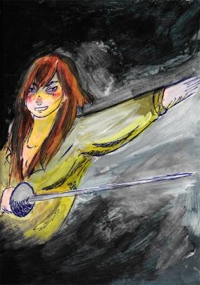 She's a swordsman.