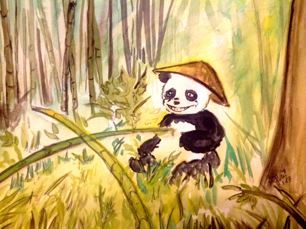 Ever saw a panda with a hat?