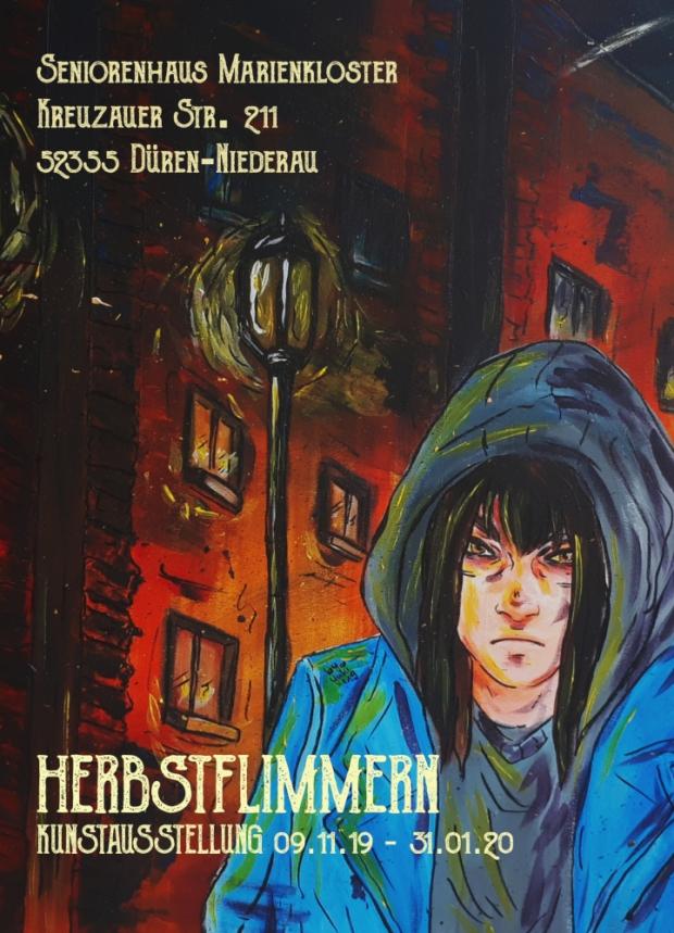 """Exhibition """"Herbstflimmern"""" Flyer"""