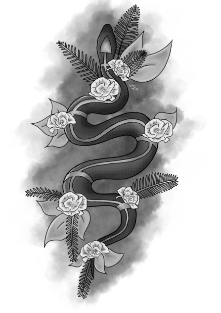 Snake Design (A Tattoo Design Commission)